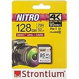 Strontium Nitro 128GB SD SDXC UHS-I U3 V30 Class 10 Flash Memory Card (SRN128GSDU3QR)
