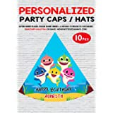 WoW Party Studio Personalized Baby Shark Theme Party Caps