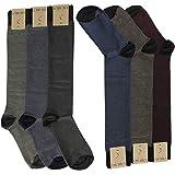 KARUSO 6 Paia Calze Lunghe Uomo Filo di Scozia elasticizzate, calzini lunghi leggeri made in italy