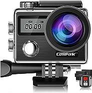 Campark X20 Action Cam 4K 20MP WiFi Subacquea 40M con Telecomando e EIS Kit di Accessori (30% Offerte per 1 Settimana)