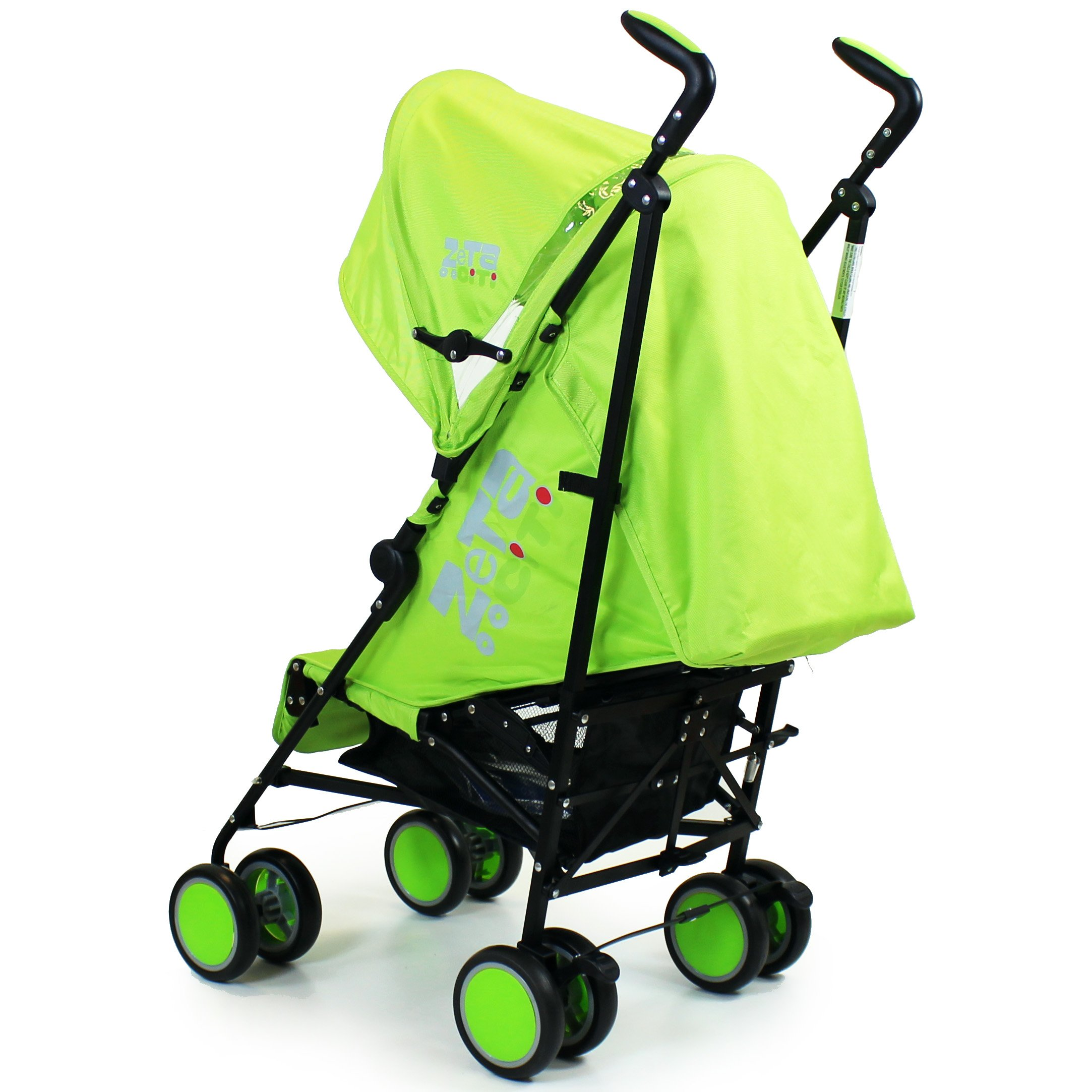 Complete With Footmuff + Raincover Zeta Citi Stroller Buggy Pushchair Lime