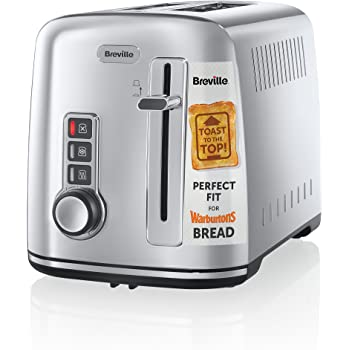 Breville 2-Slice Toaster the Perfect Fit for Warburtons - Silver