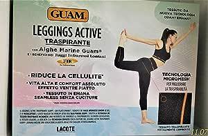 Guam Leggings Active Traspirante con Alghe Taglia XS-S 38-40 Coprente Senza Cuciture Effetto Ventre Piatto