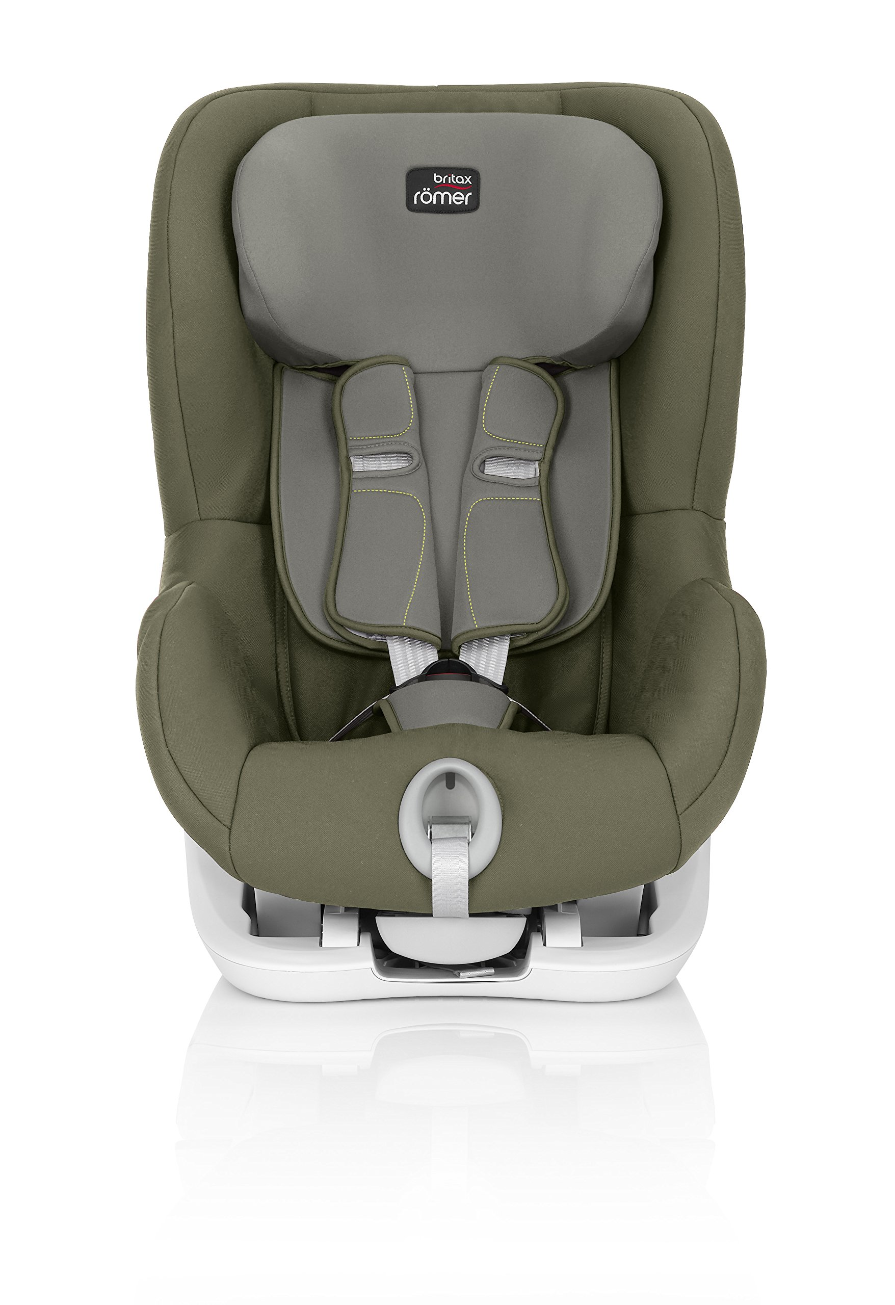 Britax Römer King II Car Seat, Olive Green Britax Römer Easy installation - with tilting seat and patented seat belt tensioning system Optimum protection - performance chest pads, deep, padded side wings 3