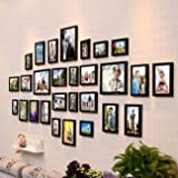 Art Street - Delighted Set of 28 Individual Black Wall Photo Frame(4X6,6x8,8X10)