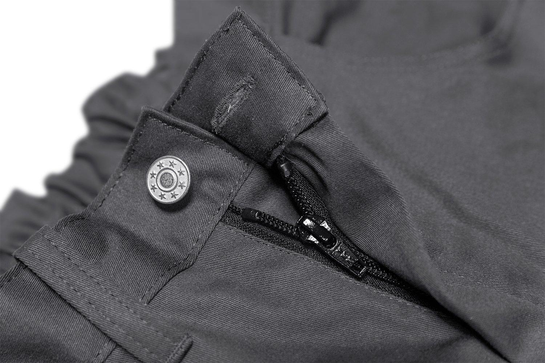 strongAnt/® Pantalones Elasticos Hombre bot/ón de Metal YKK Cremallera YKK Pantal/ón de Trabajo Berlin Pro 260 GR con Bolsillo para Rodillera Gris-Negro 52 Hecho en la UE