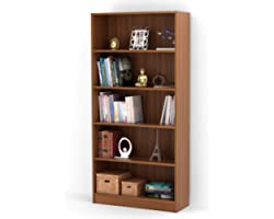 BLUEWUD Engineered Wood Wall Book Shelf Home Decor Display Shelf ,Matte Finish,Set Of 12,Walnut