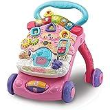 VTech - Correpasillos Andandín 2 en 1, Diseño Mejorado, Andador Bebé InTeractivo Plegable y Regulador de Velocidad, Color Ros