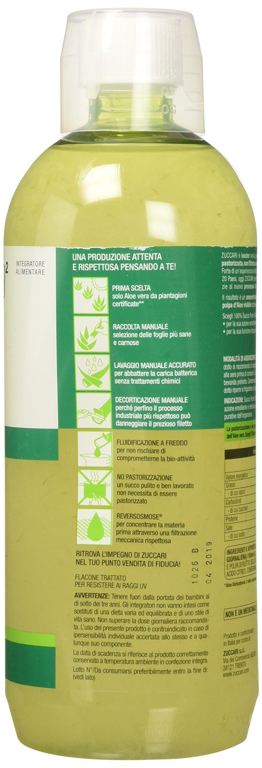 Zuccari Aloevera 2 Succo Puro d'Aloe, 1000 ml 4 spesavip