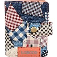 Loscco 213 Blue Women's Card Holder Fashion Artificial Leather Women's Wallet