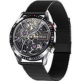 PHIPUDS Smartwatch, Reloj Inteligente Impermeable IP68 con Monitor de Sueño Pulsómetros Cronómetros Contador de Caloría, Puls