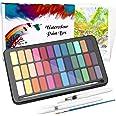 WOSTOO vattenfärg färguppsättning vattenfärg färger vibrerande färger professionell akvarellsats bärbar akvarellblock med pap