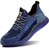 Ucayali Zapatos de Seguridad para Hombre Mujer Cómodos Ligeros, Zapatillas de Trabajo con Punta de Acero Transpirables, Azul