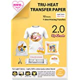 TransOurDream Tru-Iron on Heat Transfer Paper for Light Fabric (2nd Generation, A3, 10 Sheets) Printable Heat Transfer Vinyl