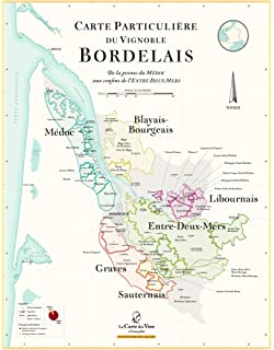 la carte des vins s il vous plait La Carte des Vins s'il vous plaît Map of Bordeaux Wine   70 x 100