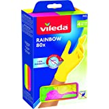 Vileda Guanti Multiuso Rainbow, Nitrile, Multicolore, 80 Pezzi, S/M