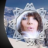 Schneefall Bilderrahmen
