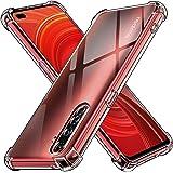 ivoler Funda para Realme X50 Pro 5G, Carcasa Protectora Antigolpes Transparente con Cojín Esquina Parachoques, Flexible Suave