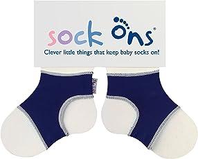 Sock Ons Unisex - Baby Sockenhalter 140556, Gr. 6-12 Monate, Navy