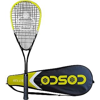 Cosco LST 125 Strung Tennis Racquet Yellow Black