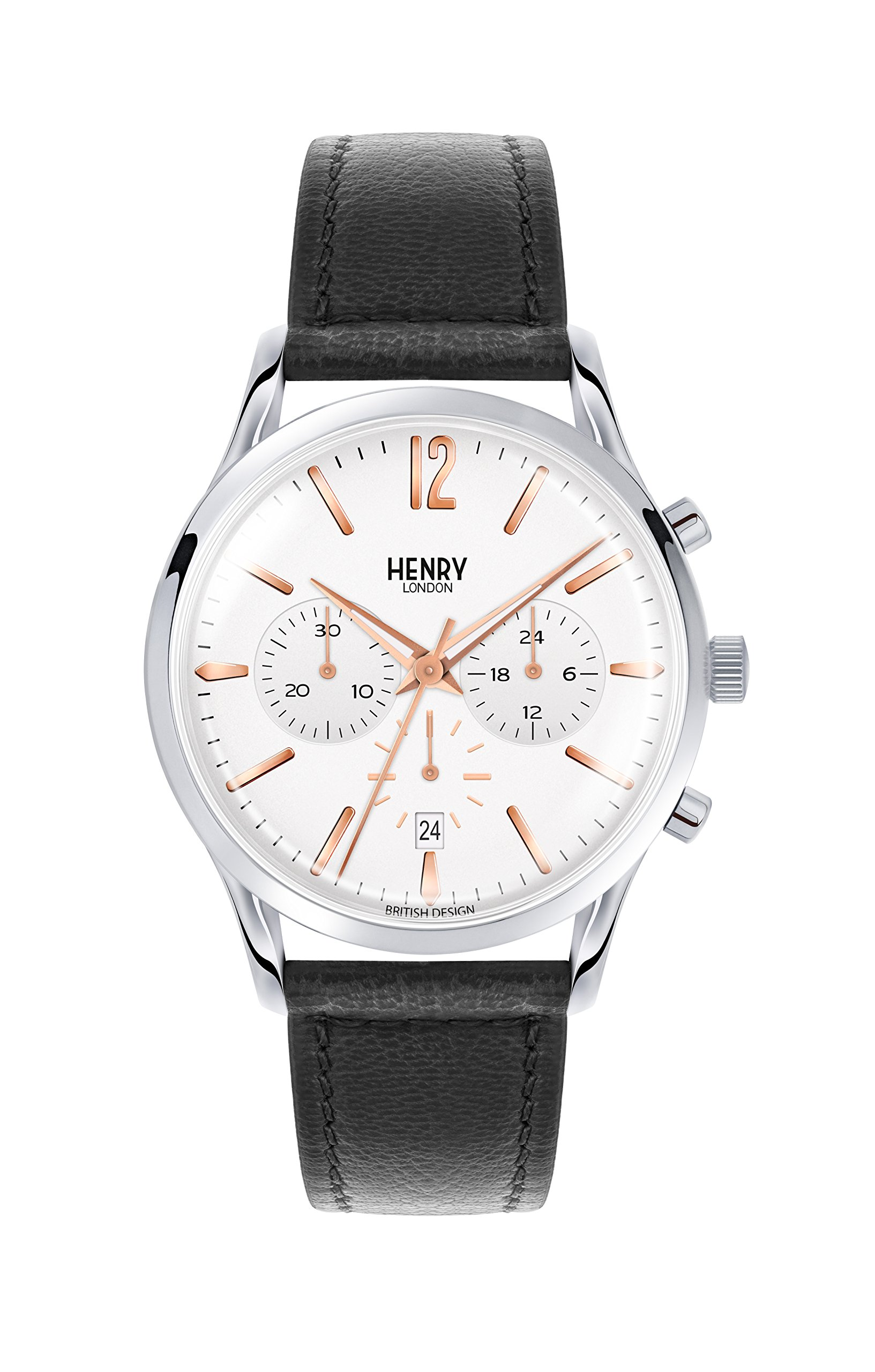 Henry High Gate London Unisex Quartz Watch with Chronograph Quartz Leather Fred Perry 0011 HL41