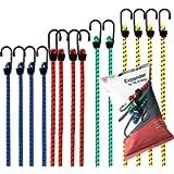 12x set di espansori tenditore per bagagli per fissaggio con cinghie di tensionamento gomma di tensionamento per…