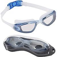 BEZZEE PRO Lunettes de Natation pour Adultes avec étui de Protection - UV lentille de Miroir de Protection/Coloré…