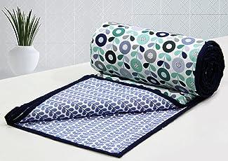 AURAVE Elba Cotton 1 Piece Floral Reversible Dohar - Single, Multi