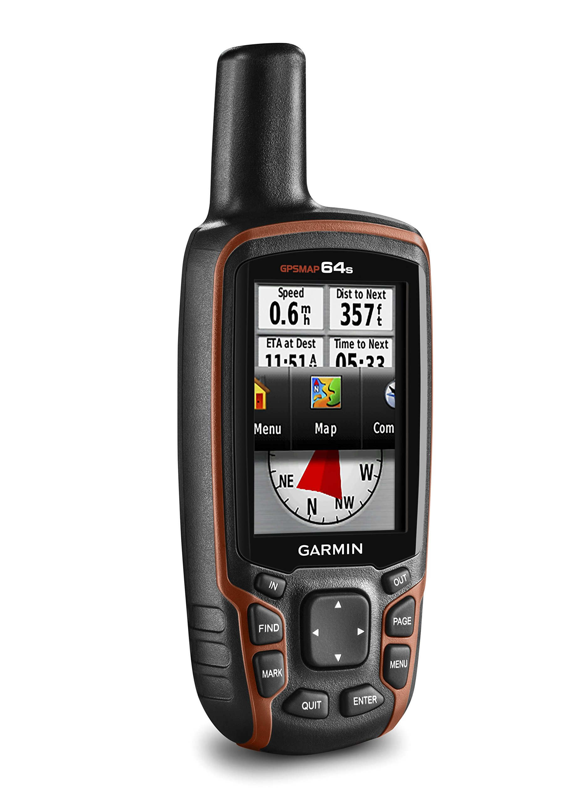 Garmin GPSMAP 64s Handheld Navigator,Black/Red 5
