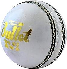 Acorn Cricket Bullet Leather Ball (White, AKP0002)