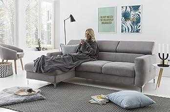 myHomery Ärmeldecke - Kuscheldecke XL - TV-Decke mit Ärmeln - Fleecedecke Zum Lesen und Fernsehgucken - Sofadecke mit Taschen für iPad Fernbedienung und Füße
