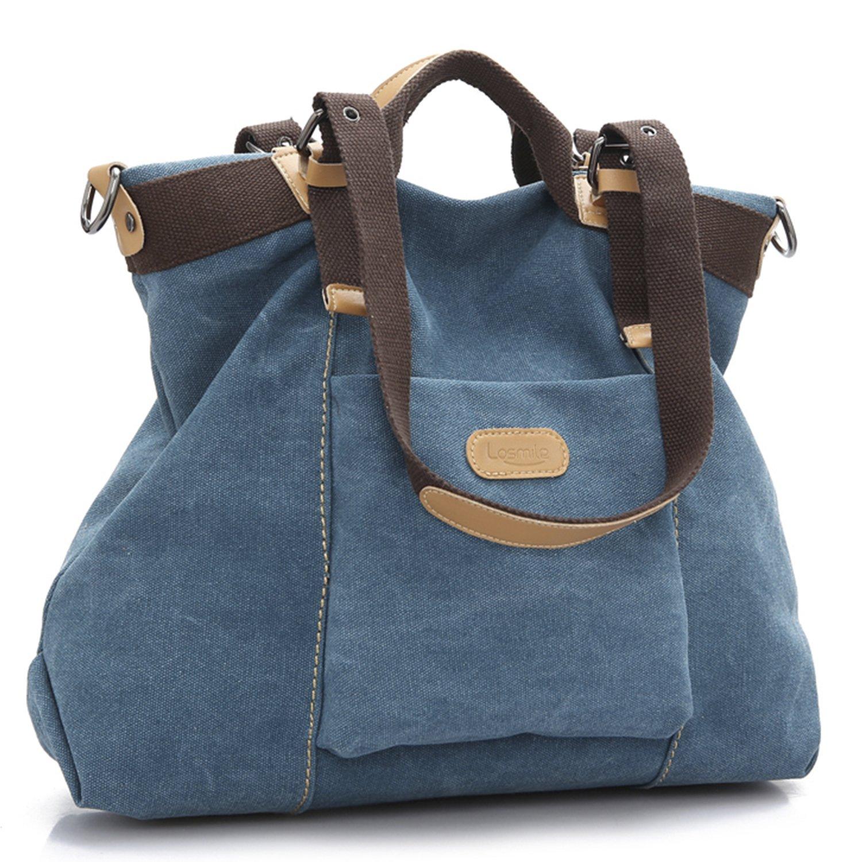 comprar popular 17122 d72bf LOSMILE Bolsos de mano para mujer, Bolso de Bandolera Totes Shopper Viajar  Hobo de Lona.