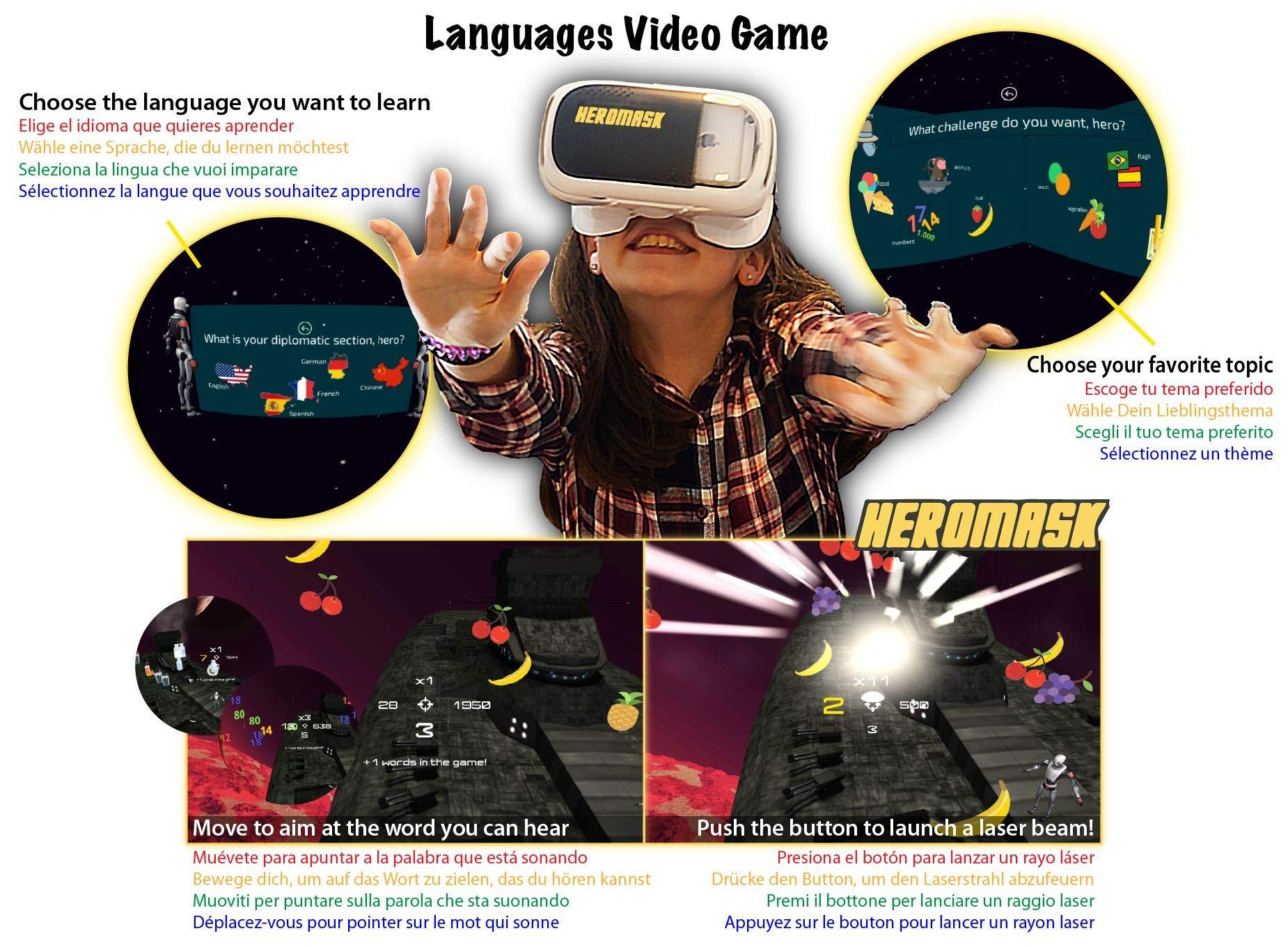 10 Años Juguete 3d 7 12 OriginalAprende 5 6 9 InglésFrancés Realidad 11 Educativo 8 NiñosJuego Gafas Virtual Idiomasregalo gv76Yfby