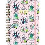 Agenda 2021 2022, agenda semanal tamaño A5 de julio 2021 hasta junio 2022, 15 x 21 cm, diseño de cactus rosa