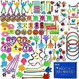 nicknack Partyväska fyllmedel för barn, 120 st festpriser, Lucky Dip-pris för barn födelsedagsfest gåva leksak sortiment