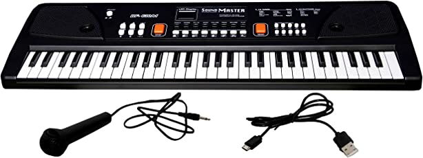 Fantasy India 61 Keys Piano with DC output, Mobile Charging (USB Included) and Microphone (630-A1)