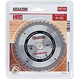 KRT020407 HSS hårdmetall cirkelsågsblad för trä Ø150 mm hål 20 mm tjocklek 2 mm kuggar 40 träsågblad + 4 reduktionsringar