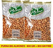 Purna Big Almonds - 800 gm (Pack of 2)