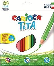 Carioca 42794 Tita - Scatola da 24 matite colorate esagonali