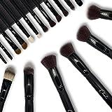 Chali® Make-up Kwasten Set 18 delig met Tas, Make-Up Borstels voor Foundation, Oogschaduw, Poeder, Concealer, Highlighter, Co