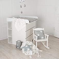 Puckdaddy Stauraumregal, Wickelregal für IKEA Malm, Koppang Kommoden