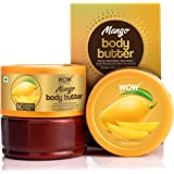 WOW Skin Science Mango Body Butter for Softening and Revitalizing Dull Skin - For All Skin Types - No Parabens, Silicones, Mi
