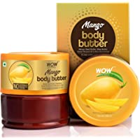 WOW Skin Science Mango Body Butter for Softening and Revitalizing Dull Skin - For All Skin Types - No Parabens…