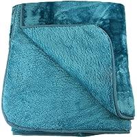 Amago Coperta, Coperta in microfibra Cashmere Feeling, Blu (Petrol), 130 x 170 cm