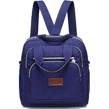 d9d254aa0b Travistar Backpack Handbag Backpack - Waterproof Nylon Lightweight Shoulder  Bags Messenger Cross Body Casual Daypack Multifunction for Girls and Women