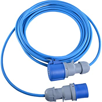 10 METRE HO7RN-F RUBBER EXTENSION LEAD 32A 3 PHASE 415V FOR MACHINERY HOOKUP