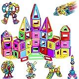 Bloc de Construction Magnétique, 162Pièces Kits Mini Jeux de Construction Magnetique, Colorée avec Fenêtre Balcon Mur, Idéal