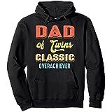 Papa de Twins Classic Overachiever Future Dad Sweat à Capuche