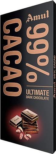 Amul 99% Dark Chocolate 125g Pack of 2