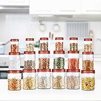 Milton Vitro Plastic Jar Set, 18- Pieces, Transparent